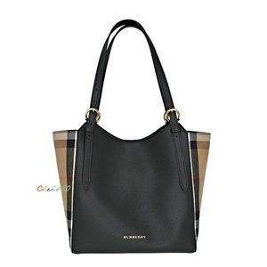 Burberry Canterbury House Check & Leather Tote